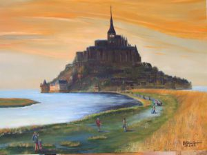 Peinture de JACQUES-SIMON BILLIAU: mont st michel