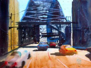 Peinture de Andre Mehu: Harbour Bridge