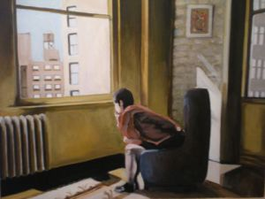 Peinture de jean pierre felix: solitude à New-York