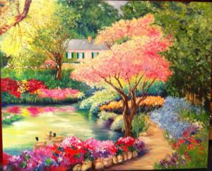 Peinture de Catherine James: printemps à Giverny