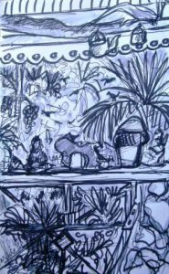 Peinture de MARIE INDIGO: on the porch