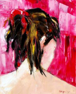 Peinture de Chantal  Urquiza: RUBAN ROUGE