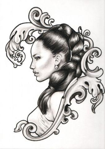Femme de profil dessin melanie - Dessin de profil ...