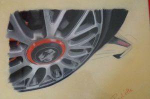 Dessin de past'elle: abarth en d�tail