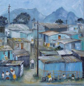 Peinture de Meryl QUIGUER: Shacks - Sunday