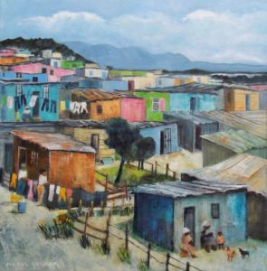 Peinture de Meryl QUIGUER: shacks - monday
