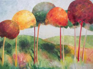 Peinture de Meryl QUIGUER: Seasons in the woods
