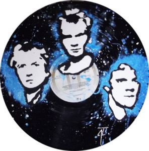 Artisanat de Vinyl Creation: Portrait The Police sur disque vinyle 33 tours