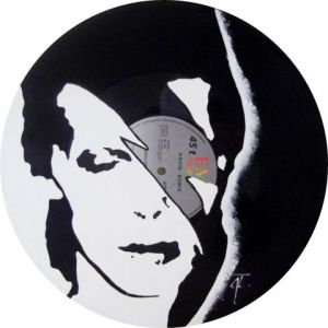 Artisanat de Vinyl Creation: Portrait David Bowie n°2 sur disque vinyle 33 tours