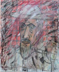 Peinture de Michel Gay: Portrait de don quichotte
