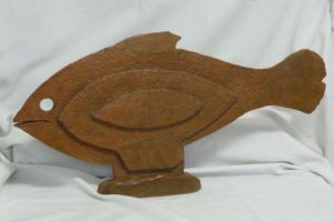 Sculpture de Moixart May: poisson plat