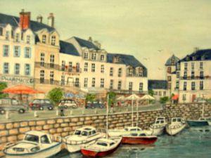 Le passage du gois l 39 ile de noirmoutier 85 peinture lebreton hays - Galerie du port noirmoutier ...