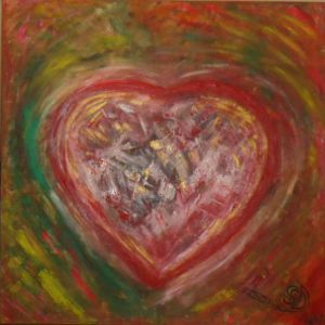Peinture de SONYA DZIABAS: HEART OF THE WORLD
