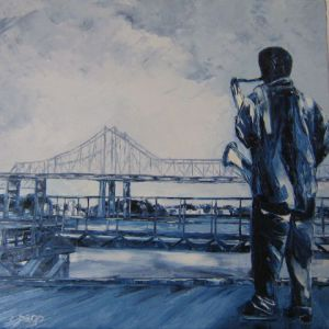 Voir cette oeuvre de edith dago: New Orleans blues - Twin Bridges
