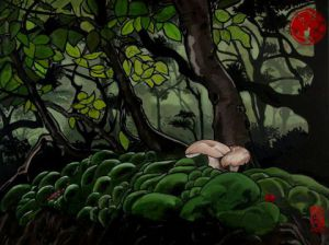 Peinture de Anna Karen: Mushrooms Forest