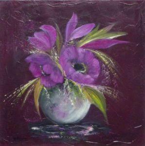 tableau de fleurs peindre