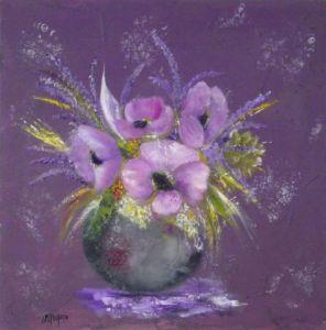 Oeuvres gris sur livegalerie for Peinture violette