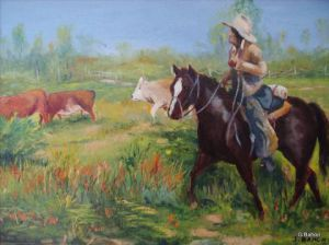 Peinture de Gerard Bahon: On the Range