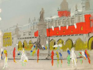 Peinture de Arsene Gully: La place de Cracovie