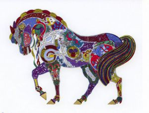 Illustration de Le Chaudron Encreur: Cheval celtique