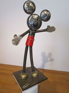 Sculpture de Roger FLORES: Mickey