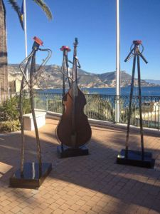 Sculpture de Roger FLORES: Jazz trio