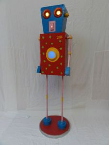 Oeuvre de Cyrille Plate: Robot lumineux