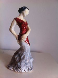 Sculpture de monique josie: danseuse flamenco
