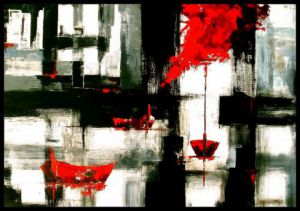 Peinture de KARPEG : Marina black and red