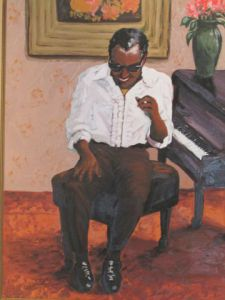 Voir cette oeuvre de christiane lydie RELAVE: ray charles