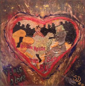 Peinture de SONYA DZIABAS: THE MOULIN ROUGE HEART