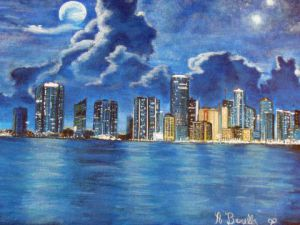 Peinture de A BRUNELLO: New York blue