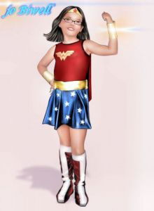 Oeuvre de jo biwell: mini Wonder Woman