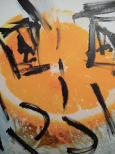 Peinture de laureweber: l'orange de laurent