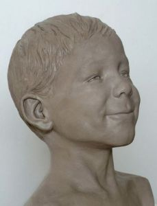Sculpture de Laurent mc sculpteur portrait: Enfant