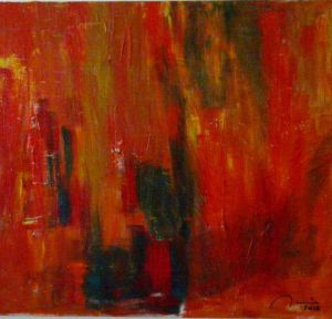 Peinture de Jean Claude MICHELET: Col�re rouge