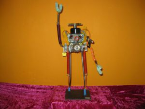 Sculpture de bellagamba  gilles: n°49  robot   collection