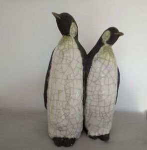 Sculpture de SANDRINE MESNIL: couple manchot