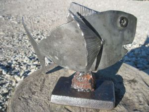 Sculpture de Beachmountaincreation: Fish Seven