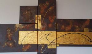 Peinture de mifa: BROWN AND GOLD