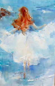 Peinture de Chantal  Urquiza: robe  vague 2