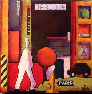 Oeuvre de Marie-Pierre JAN: Shopping in Paris