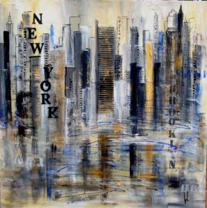 Peinture de VERONIKA L: souvenir from New York