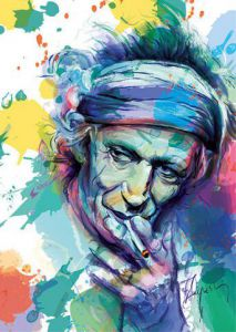 Peinture de James AUGUSTIN: Keith Richards