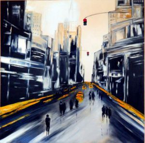 Peinture de Martine YVOREL: New York city