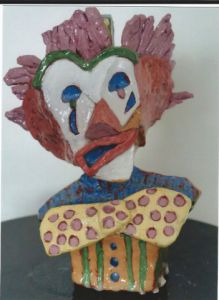Sculpture de fred: clown Marius