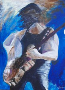 Peinture de Christian Bligny: Hard rockin' blues
