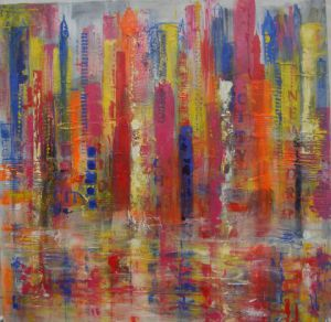 Peinture de VERONIKA L: New York acidulé