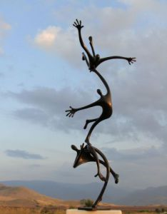 Sculpture de Plamenart: Attempt to fly