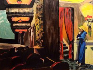 Peinture de Maurice BELLOLO: CINEMA A NEW YORK